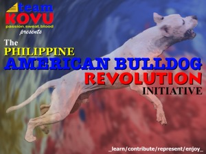 Philippine American Bulldog Revolution Poster